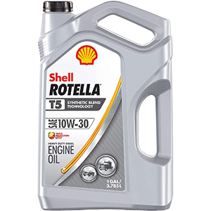 Shell Rotella T5 Synthetic Blend 10W-30 Diesel Engine Oil