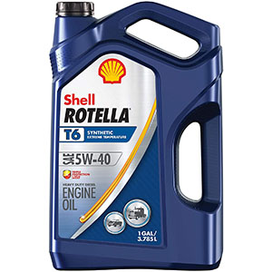 Shell Rotella T6 Synthetic Diesel Engine Oil 5W-40