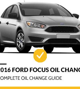 2016 Ford Focus Oil Change