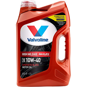 Valvoline High Mileage with Max Life Synthetic Blend 10W-40 Motor Oil