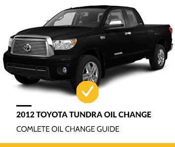 2012 Toyota Tundra Oil Change