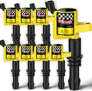 Bravex 8 Pack Straight Boot Ignition Coils 15% More Energy for Ford F-150