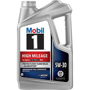 Mobil 1 High Mileage Full Synthetic Motor Oil 5W-30