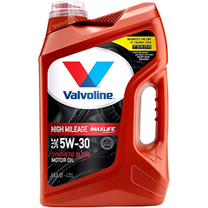 Valvoline High Mileage with MaxLife Technology SAE 5W-30 Synthetic Blend Motor