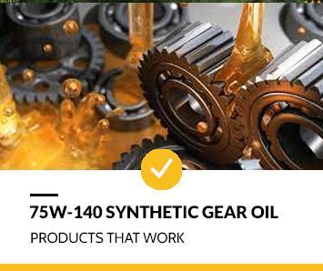 Best 75W-140 Synthetic Gear Oil
