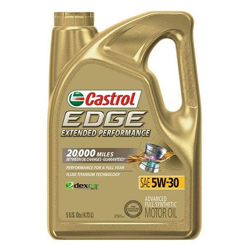 Castrol 1597B1 Edge Extended Performance 5W-30 Advanced Full Synthetic Motor Oil