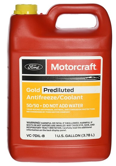 Genuine Ford Fluid VC-7DIL-B Gold Pre-Diluted Coolant