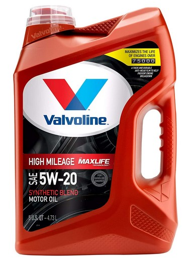 Valvoline High Mileage SAE 5W-20 Synthetic Blend Motor Oil