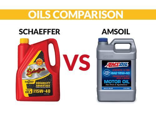 Schaeffer vs Amsoil Oil Comparsion